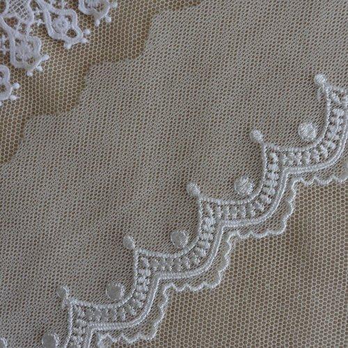 刺繍チュール 8cm幅