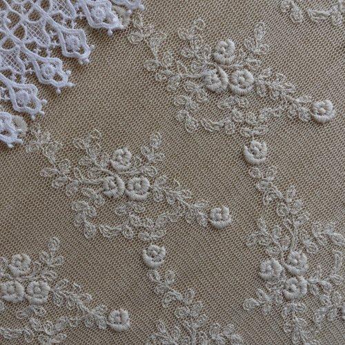 綿刺繍チュール 28cm幅
