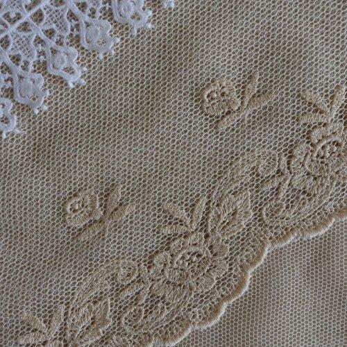綿刺繍チュール 13cm幅