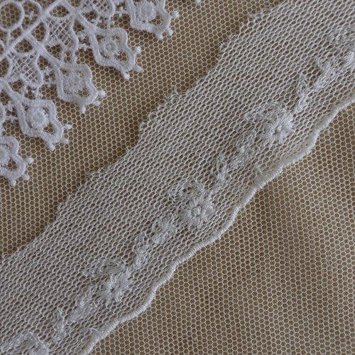 綿刺繍チュール 3cm幅