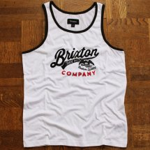 <img class='new_mark_img1' src='//img.shop-pro.jp/img/new/icons14.gif' style='border:none;display:inline;margin:0px;padding:0px;width:auto;' />BRIXTON ブリクストン DENTON TANK TOP  デントン タンクトップ ホワイト