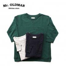 Mr.OLDMAN ミスターオールドマン  3/4 SLEEVE REVERSE WEAVE Tee 七分袖リバースウィーブTシャツ