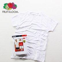 FRUIT OF THE LOOM フルーツオブザルーム 3Pack Crew Neck S/S Tee クルーネック半袖Tシャツ 3枚パック ホワイト Mサイズ