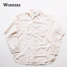 <img class='new_mark_img1' src='https://img.shop-pro.jp/img/new/icons50.gif' style='border:none;display:inline;margin:0px;padding:0px;width:auto;' />WORKERS K&T H ワーカーズ  Cigaret Pocket Shirt シガレットポケットシャツ  ホワイトシャンブレー