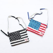 <img class='new_mark_img1' src='//img.shop-pro.jp/img/new/icons14.gif' style='border:none;display:inline;margin:0px;padding:0px;width:auto;' />Holiday A.M.  US FLAG SHOULDER CLUTCH  USフラッグショルダークラッチ