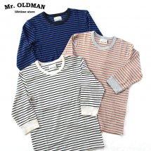 ミスターオールドマン Mr.OLDMAN  ストレッチフライスボーダー7分袖Tシャツ STRETCH FRAISE BORDER 3/4 SLEEVE TEE