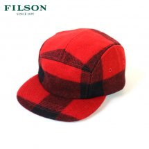 <img class='new_mark_img1' src='https://img.shop-pro.jp/img/new/icons50.gif' style='border:none;display:inline;margin:0px;padding:0px;width:auto;' />フィルソン FILSON キャップ 帽子 ウール マッキーノ 5パネルキャップ 5-PANEL CAP レッド