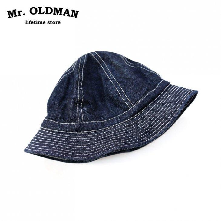 Mr.OLDMAN デニムアーミーハット
