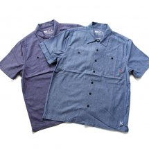 <img class='new_mark_img1' src='//img.shop-pro.jp/img/new/icons14.gif' style='border:none;display:inline;margin:0px;padding:0px;width:auto;' />ブルコ BLUCO WORK GARMENT OL-108CS-018 WORK SHIRTS S/S C.Stripe ワークシャツ ストライプ