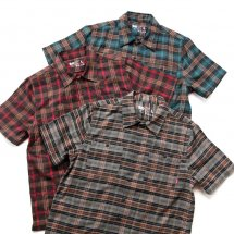 <img class='new_mark_img1' src='//img.shop-pro.jp/img/new/icons14.gif' style='border:none;display:inline;margin:0px;padding:0px;width:auto;' />ブルコ BLUCO WORK GARMENT OL-108PC-018 WORK SHIRTS S/S P.Check ワークシャツ チェック