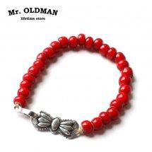 ミスターオールドマン Mr.OLDMAN ホワイトハーツビーズブレスレット White Hearts Beads Bracelet