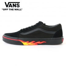 <img class='new_mark_img1' src='https://img.shop-pro.jp/img/new/icons50.gif' style='border:none;display:inline;margin:0px;padding:0px;width:auto;' />VANS バンズ OLD SKOOL オールドスクール FLAME WALL フレイムウォール BLACK/BLACK