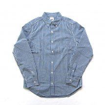 エフオービーファクトリー FOB factory F3399 SELVEDGE GINGHAM CHECK BD SHIRT ネイビー