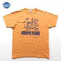 バズリクソンズ×ピーナッツ BUZZ RICKSON'S×PEANUTS 東洋エンタープライズ BR77846 プリントT スヌーピー オレンジ