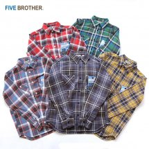 ファイブブラザー FIVE BROTHER ヘビーフランネルワークシャツ HEAVY FLANNEL WORK SHIRTS