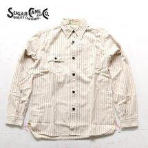 シュガーケーン SUGAR CANE 東洋エンタープライズ SC27076 フィクションロマンス 8.5オンスホワイトウォバッシュワークシャツ