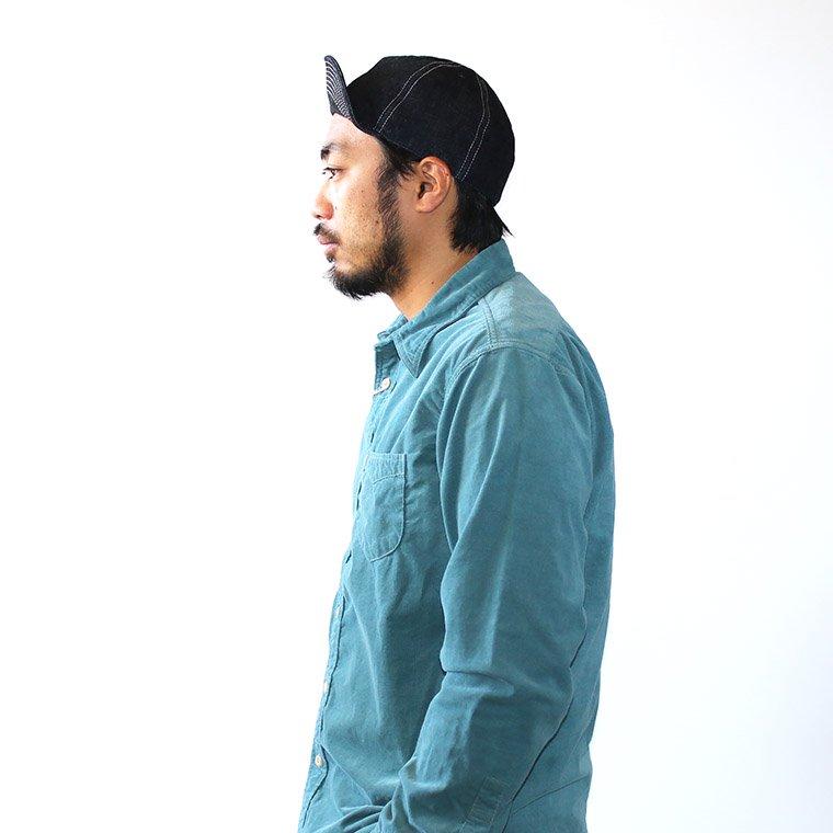 Mr.OLDMAN/BLUE デニムワークキャップ