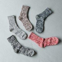 マウナケアソックス Mauna Kea Socks 靴下 スラブネップツイスター杢ソックス 106502
