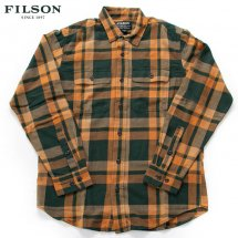 <img class='new_mark_img1' src='https://img.shop-pro.jp/img/new/icons50.gif' style='border:none;display:inline;margin:0px;padding:0px;width:auto;' />フィルソン FILSON スカウトシャツ SCOUT SHIRT ライトウエイトコットンツイル グリーン×ゴールド