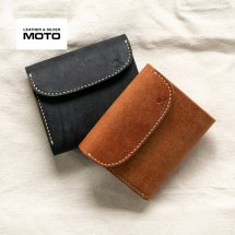 <img class='new_mark_img1' src='https://img.shop-pro.jp/img/new/icons14.gif' style='border:none;display:inline;margin:0px;padding:0px;width:auto;' />モト LEATHER & SILVER MOTO 3つ折り ミニウォレット W6R