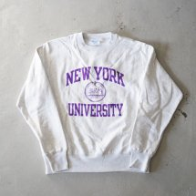 <img class='new_mark_img1' src='https://img.shop-pro.jp/img/new/icons50.gif' style='border:none;display:inline;margin:0px;padding:0px;width:auto;' />NYU New York University チャンピオン製 CHAMPION リバースウィーブ 日本未発売 シルバーグレー