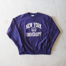 <img class='new_mark_img1' src='https://img.shop-pro.jp/img/new/icons50.gif' style='border:none;display:inline;margin:0px;padding:0px;width:auto;' />NYU New York University チャンピオン製 CHAMPION リバースウィーブ 日本未発売 パープル