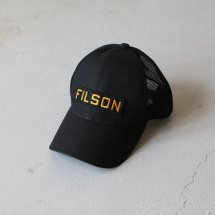 <img class='new_mark_img1' src='https://img.shop-pro.jp/img/new/icons14.gif' style='border:none;display:inline;margin:0px;padding:0px;width:auto;' />フィルソン FILSON メッシュロガーキャップ MESH LOGGER MESH CAP ブラック