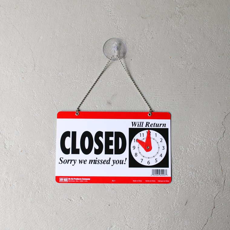 OPEN&CLOSED SIGN