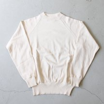<img class='new_mark_img1' src='https://img.shop-pro.jp/img/new/icons14.gif' style='border:none;display:inline;margin:0px;padding:0px;width:auto;' />ワーカーズ WORKERS K&T H コットンラグランセーター Raglan Sweater, White