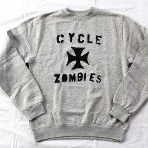 <img class='new_mark_img1' src='https://img.shop-pro.jp/img/new/icons14.gif' style='border:none;display:inline;margin:0px;padding:0px;width:auto;' />CycleZombies サイクルゾンビーズ Iron Cross Crew Sweat アイアンクロスクルースウェット