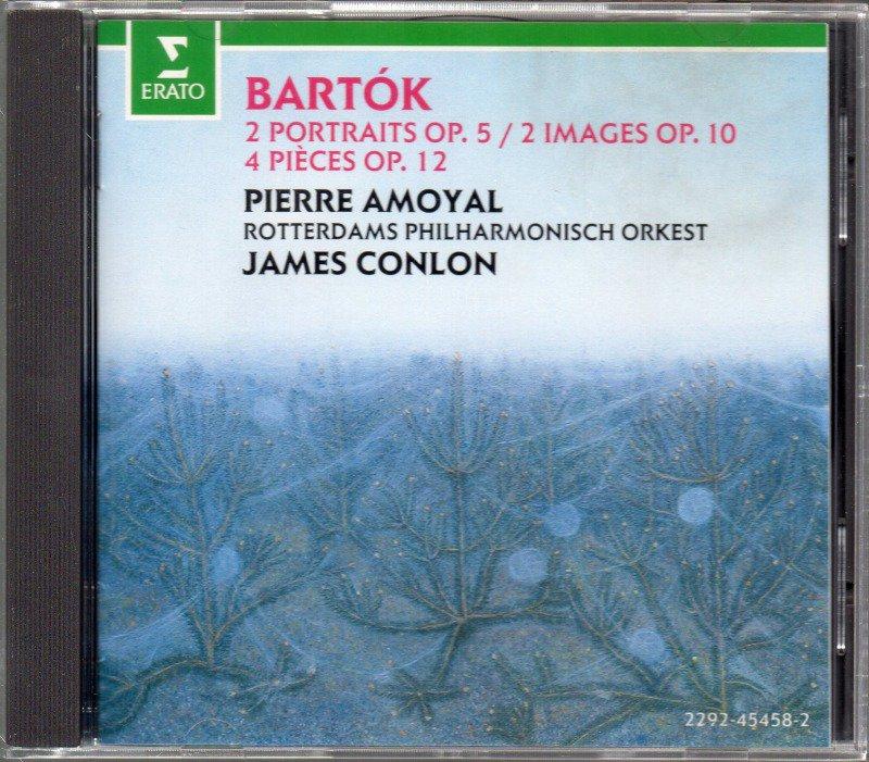 メイン画像:バルトーク:4つの小品,2つの肖像,2つの映像 コンロン=Rott 他 (外ERATO)ジャケット写真