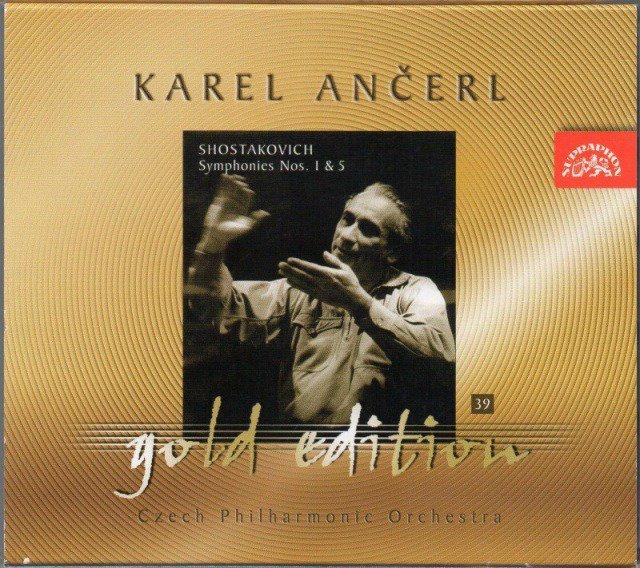 メイン画像:ショスタコーヴィチ:交響曲第1,5番 アンチェル=チェコpo {GOLD}(SU3699)ジャケット写真