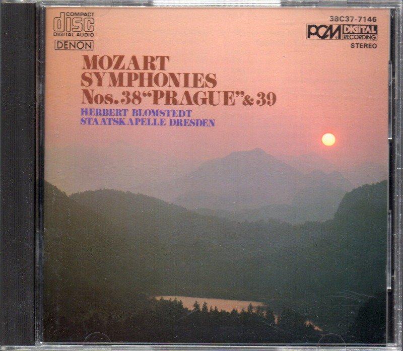 メイン画像:モーツァルト:交響曲第38,39番 ブロムシュテット=SkD (38C37-7146)ジャケット写真
