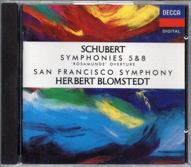 メイン画像:シューベルト:交響曲第5番,未完成 他 ブロムシュテット=SFSO (外DECCA)ジャケット写真