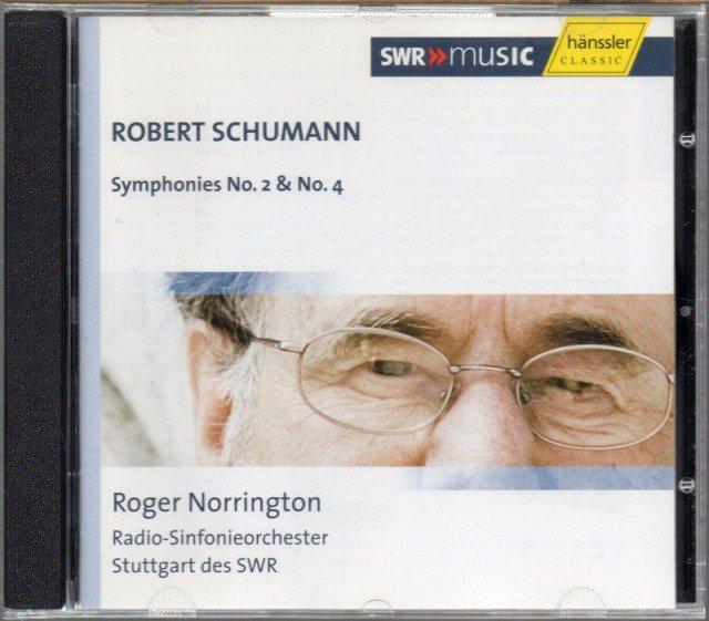 シューマン:交響曲第2番,第4番 (初稿) ノリントン=RSoS (外HAENSSLER)