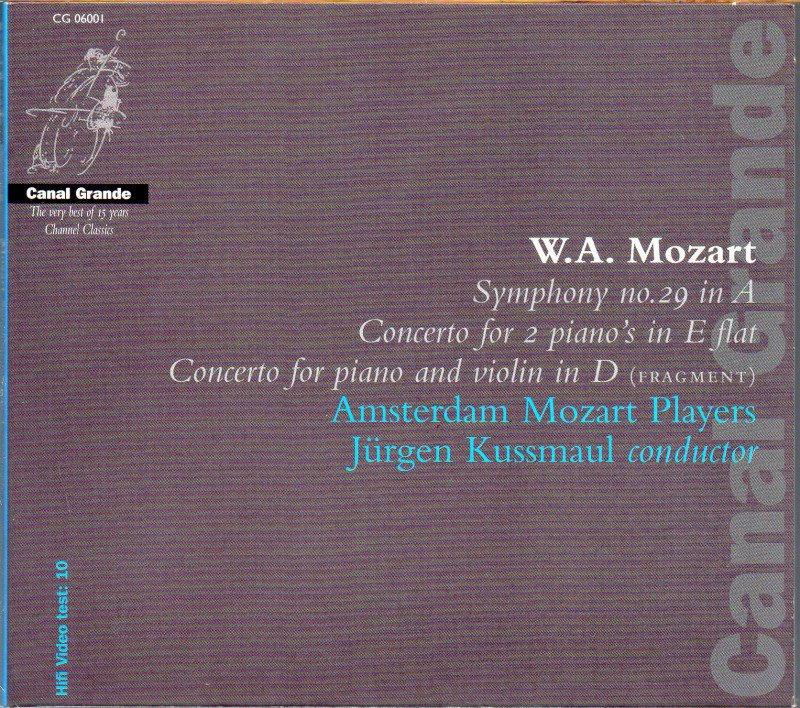 モーツァルト:交響曲第29番,2p協奏曲 他 Jクスマウル=AMP 他 (CG06001)