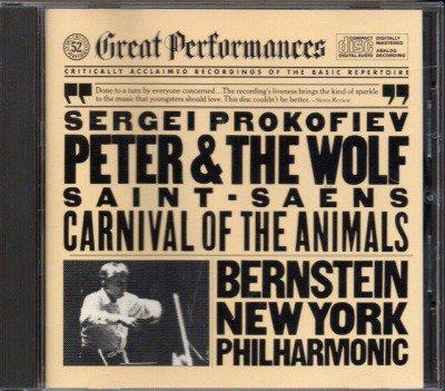 メイン画像:サン=サーンス:動物の謝肉祭,プロコフィエフ:ピーターと狼 バーンスタイン=NYP (MYK37765)ジャケット写真