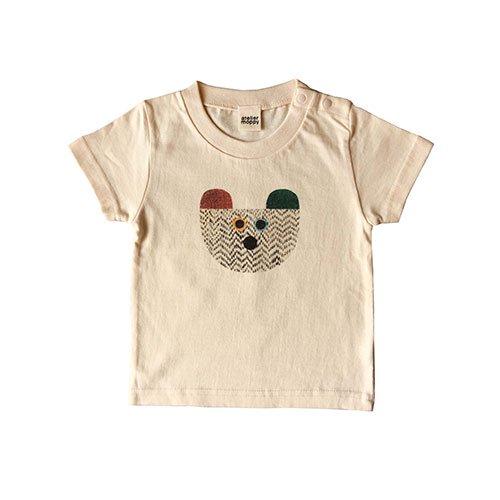 くまプリントTシャツ/キナリ