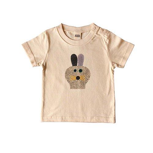 うさぎプリントTシャツ/キナリ
