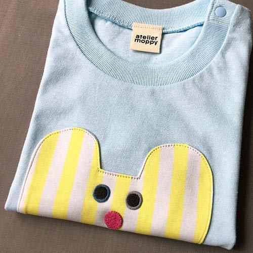 くまのTシャツ/ライトブルー