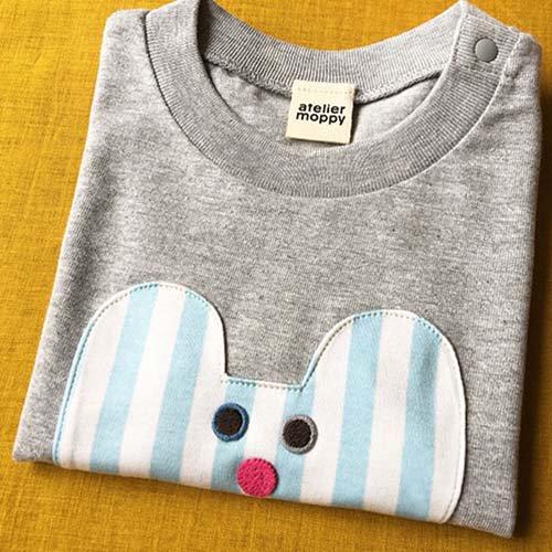 くまのTシャツ/グレー