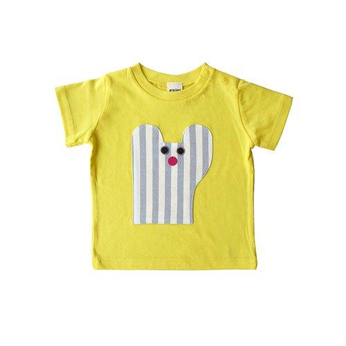 くまのTシャツ/イエロー