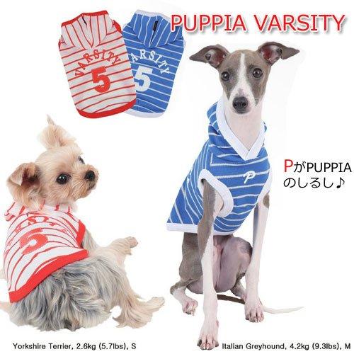 【送料無料】「犬服」ナンバー5!ボーダーパーカーVARSITY  S-L 【パピア】(Puppia)【激安セール】