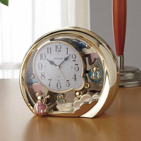 リズム 置時計(アラーム付) 4SE504SR18 [20]