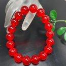 12mm秘紅石丸玉ブレスレット 内径18�