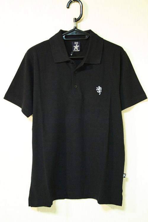 BB LONDON 鹿の子ポロシャツ ブラック