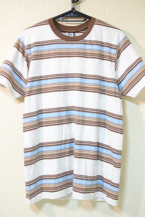 Alternative Apparel(オルタネイティブ アパレル)  ボーダーTシャツ ブルー