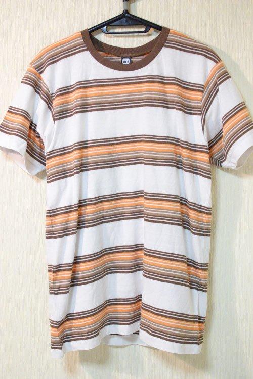 Alternative Apparel(オルタネイティブ アパレル)  ボーダーTシャツ オレンジ