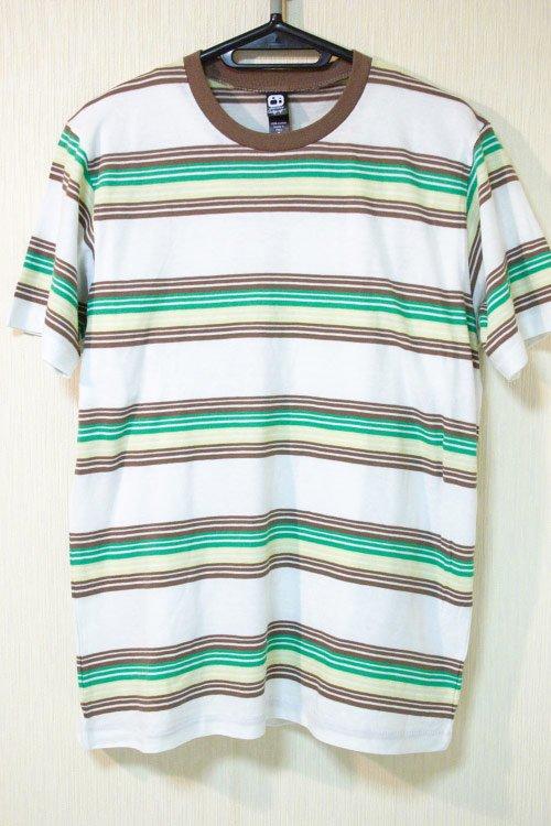 Alternative Apparel(オルタネイティブ アパレル)  ボーダーTシャツ グリーン