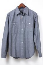 レアブランド!【BRENTS】ブレンツ シャンブレーワークシャツ ChambrayWorkShirts ブラック